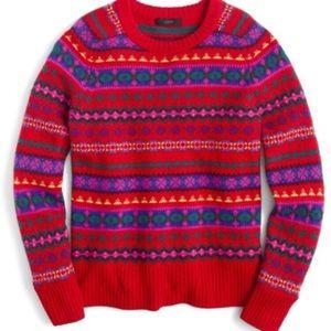 J.Crew Holly Fair Isle Sweater Small